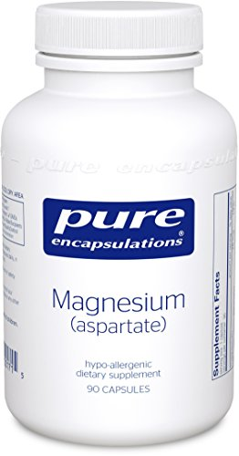 Pure Encapsulations - Magnesium (Aspartate) - Hypoallergenic Supplement Supports Nutrient Utilization and Physiological Functions* - 90 Capsules (Magnesium Aspartate)