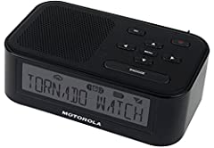 The affordable and easy to use Motorola MWR815 SAME weather radio provides early warning to ensure you are prepared when disaster strikes. Simple menu operation makes using this product a breeze. With a large display and the entire display li...