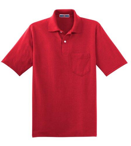 Jerzees Herren Poloshirt Gr. XXXX-Large, True Red