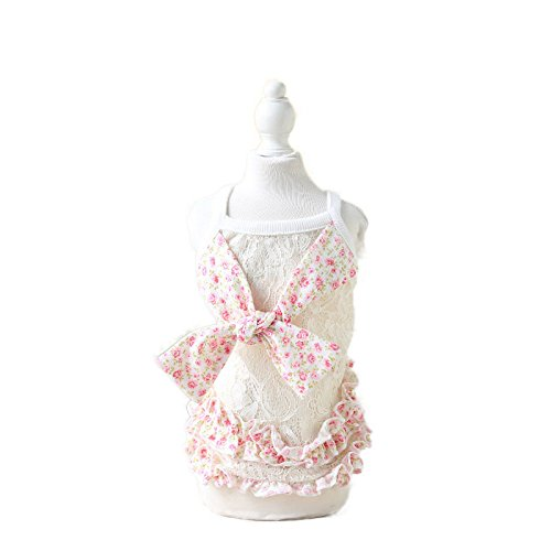 L   Pink Isali Wedding Small Dog Dress Pet Clothing for Dogs Clothes Cat Dog Clothes Lace Summer Dress (Size  L, color  Pink) Dog Clothes & shoes
