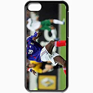Personalized iPhone 5C Cell phone Case/Cover Skin Alou Diarra Football Black