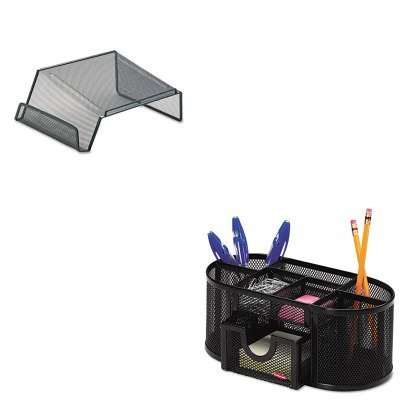 KITROL1746466ROL22151 - Value Kit - Rolodex Mesh Telephone Desk Stand (ROL22151) and Rolodex Mesh Pencil Cup Organizer (ROL1746466)