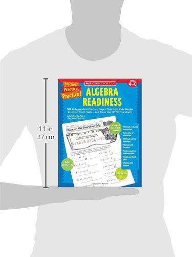 Amazon.com: Practice, Practice: Algebra Readiness, Grades 4-8 ...