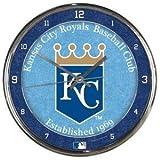 Kansas City Royals Round Chrome Wall Clock - MLB Licensed