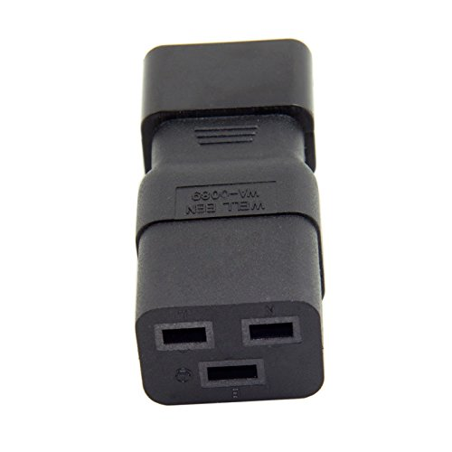 C14 Ups - Cablecc IEC320 Male C14 to Female C19 Power Mains Extension Adapter for PDU UPS 10A to 16A