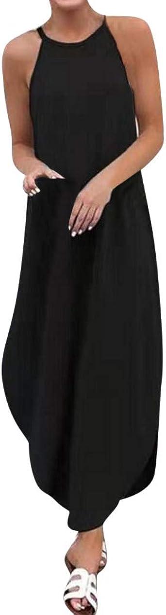 Sexy Kleid Kleider Sommerkleid Damska Sommer Vintage Jersey Schöne Boho Maxi Lang Abend Elegant Party Festlich Retro A-Linien Abendkleid Strandkleider: Odzież
