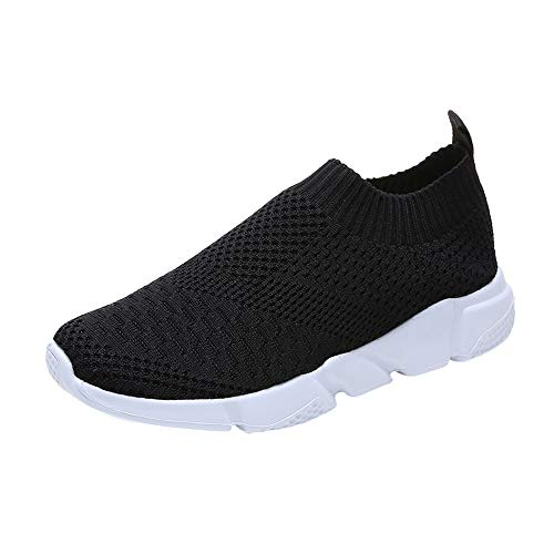 - Women Walking Sock Shoes Lightweight Mesh Slip-on Breathable Yoga Sneakers Soft Soles Running Sports Shoes (Black, US 7)