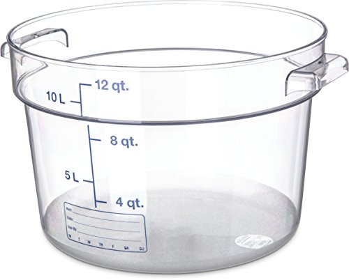 Carlisle 1076707 StorPlus Polycarbonate Round Food Storage Container, 12 Quart, Clear