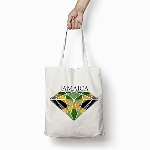 Printed Flag Tote White Jamaican Bags Women Bag For Diamond Shopper Cotton Gifts 6IHqIY
