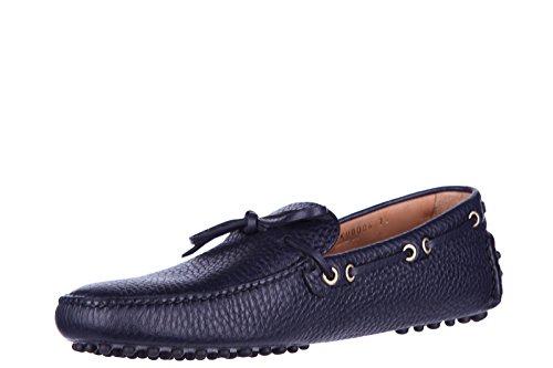 Car Shoe mocassins homme en cuir blu