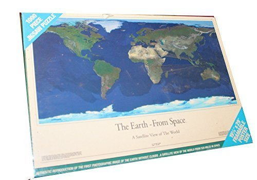 Vintage 1993 1000 Piece Jigsaw Puzzle - The Earth From Space - Authentic Reproduction of the First Satellite Photographic Image of the Earth Without Clouds From 520 Miles in Space Authentic Reproduction