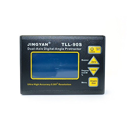 High Precision TLL-90S Biaxial Digital Level Inclinometer Mini Angle Meter ()