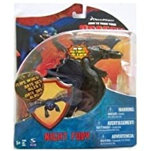"""Dreamworks Movie Series """"How to Train Your Dragon"""" Exclusive 7 Inch Long Action Figure - NIGHT FURY with Flapping Wing Feature"""