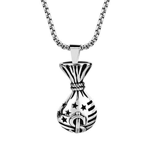 Titanium Chicago Cubs Necklace - 4