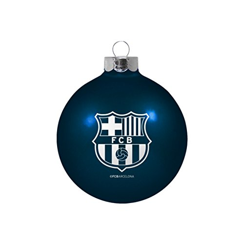 FC Barcelona Soccer Navy Glass Ball Christmas Ornament-3