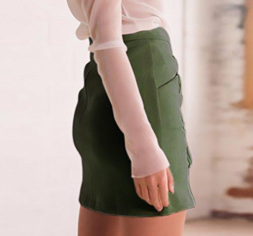 279c6f2584d11a ... Rock Damen Mode Verband Wildleder Stoff A-Linie Röcke Festlich  Bekleidung Mädchen Elegant Vintage Stretch ...