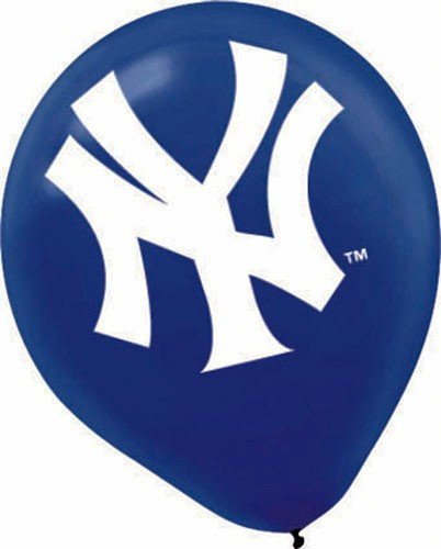 New York Yankees 12in Latex Balloons 6ct Health And Beauty Toy By