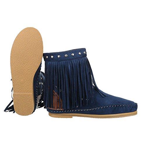 Ital-Design - Botas De Vaquero Mujer Azul