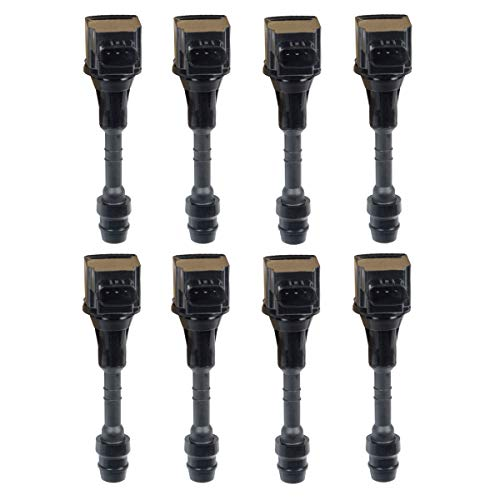 (A-Premium Ignition Coils Pack for Infiniti Q45 2002-2006 M45 2003-2004 M45 2006-2010 FX45 2003-2008 V84.5L VK45DE 8-PC Set)