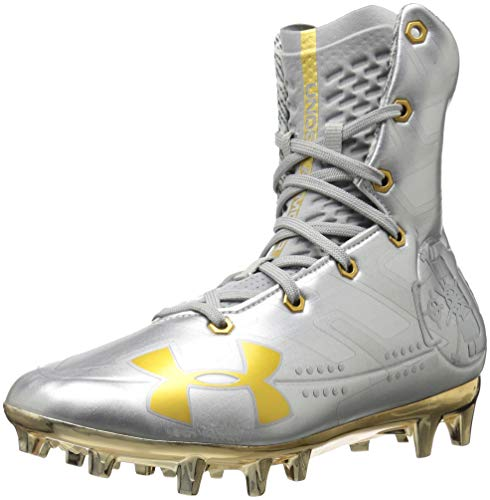 - Under Armour Men's Highlight MC-Limited Edition Football Shoe, Silver (100)/Metallic Gold, 12