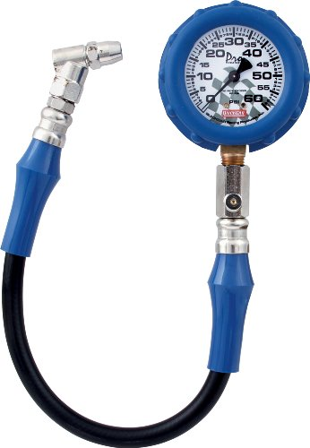 QuickCar Racing Products 56-060 Tire Pressure Gauge with Swivel Chuck and Relief Valve