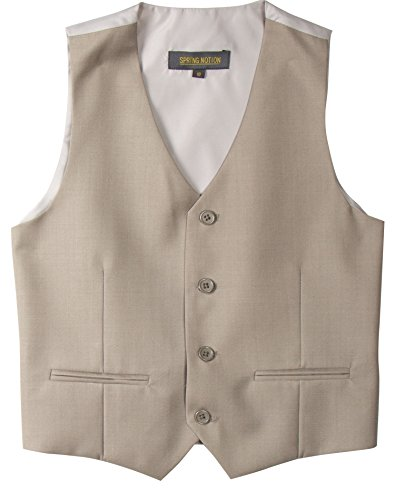 Spring Notion Big Boys' Two Button Suit 06 Tan (Boys Tan Suits)