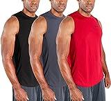 DEVOPS 3 Pack Men's Muscle Shirts Sleeveless Dri