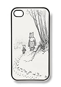 For Apple Iphone 5C Case Cover Cute Winnie the Pooh Piglet Friends Forever Retro Vintage BLACK Sides Slim HARD Case Skin Cover Protector Accessory Vintage Retro Unique AT&T Sprint Verizon Virgin Mobile