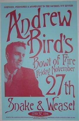 Andrew Bird Squirrel Nut Zippers Rare Original Portland Concert Tour Gig Poster