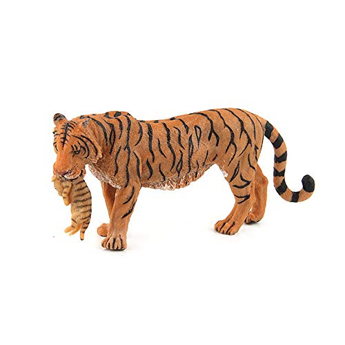 wuliLINL2019 Animal Figurines, High Emulational Detailed Baby Zoo Animals, Lions Tigers Cheetahs Lynx Figure Toy Set for Kids Toddlerse Educational Toy