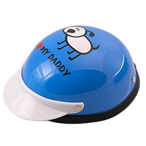 - Helmet for Dogs, Cats and All Small Pets - I Love My Daddy(Blue) for small dogs 5-10 lbs.
