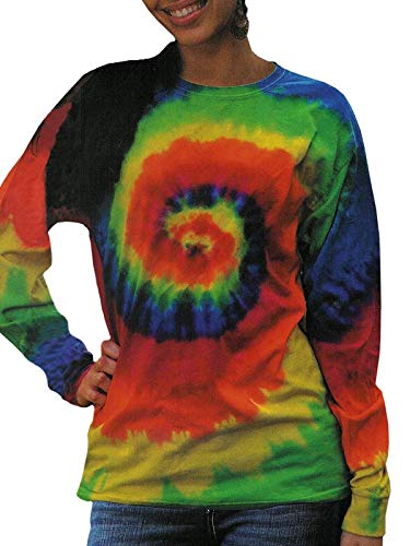 (Tie-Dyed Mens 5.4 oz. 100% Cotton Long-Sleeve)