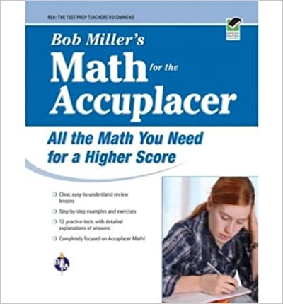 Book Bob Miller's Math for the Accuplacer (09) by Miller, Bob [Paperback (2009)]