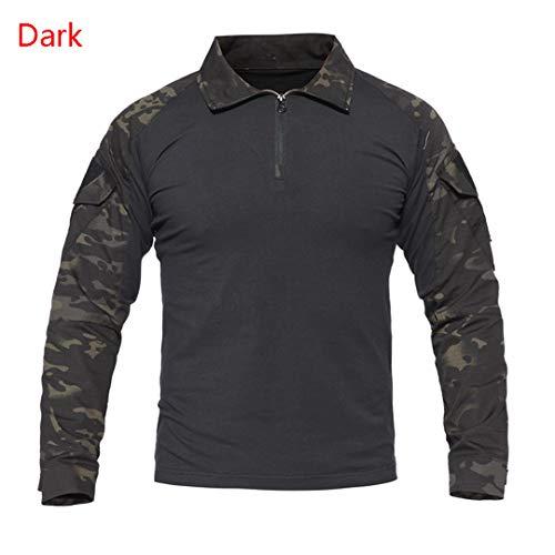 Army Tactical Military Uniform Camouflage Combat Shirts Long Sleeve Shirt Battle Strike Uniform Combat Shirts Dark - King Strike Jacket