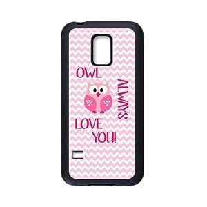 Owl Always Love You Pink Chevron Personalized Custom Case For SamSung Galaxy S5 mini