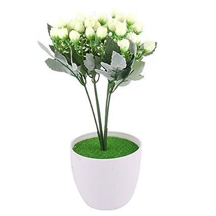 eDealMax crisol plástico dormitorio DIY de la decoración de la simulación Artificial del brote de Flor