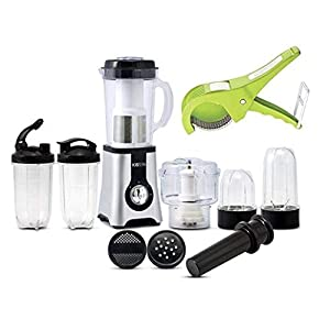 Kissen Professional Food Processor Kitchen Master 5 In 1 Mixer Grinder 400 Watts with 1 Veg Cutter