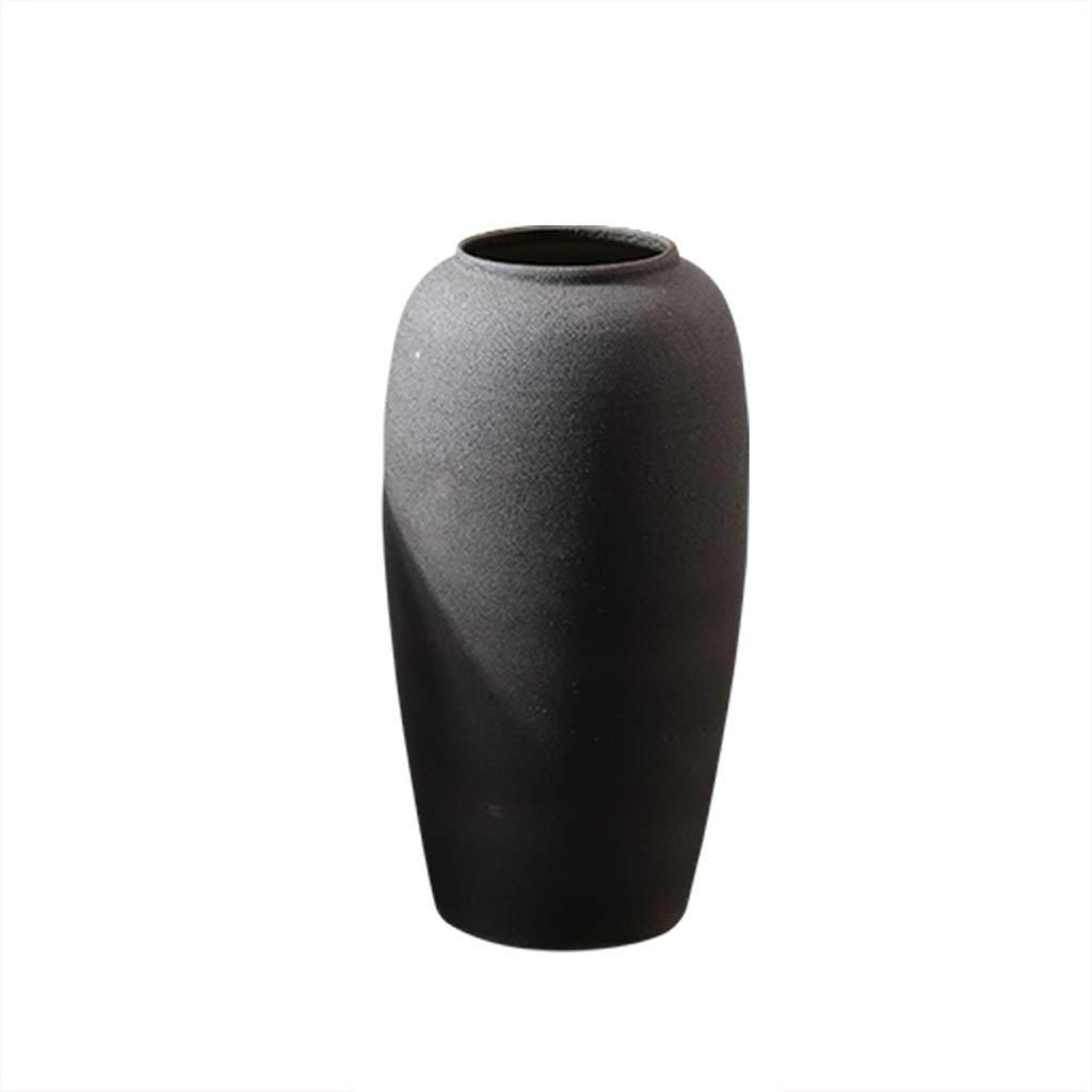 床セラミック花瓶ミディアムセットシンプルドライフラワーリビングルームフラワーアレンジメント装飾陶器ポット HUXIUPING (Size : M) B07T64MFSV  Medium