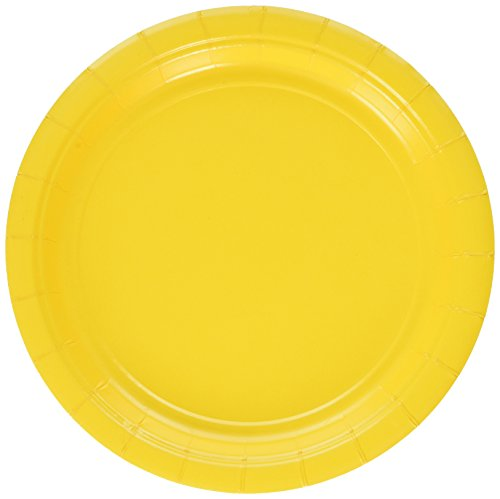 Amscan Yellow Sunshine Big Party Pack- Dessert Plates - Paper Cake Plates