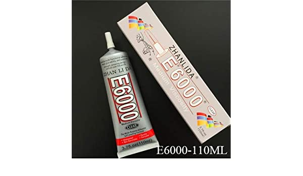 f859aefca48eed Amazon.com   Mustwell 110ml Liquid E6000 Glue Super Glue Strong Adhesive  For Metal Fabric Rhinestones Jewelry Crystal Glass Phone Screen DIY Craft    Office ...