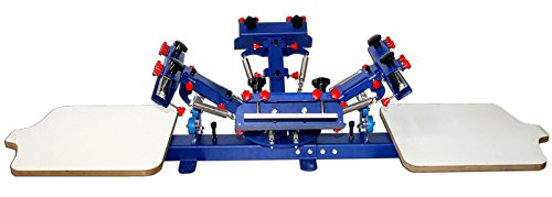 4 Color 2 Station Silk Screen Printing T-shirt DIY Press Printer by Artdid