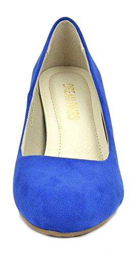 DREAM PAIRS Royal Low Heel Shoes Pump SUAVEE Womens Blue Stiletto rrRdwpq