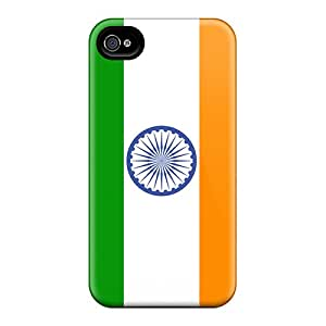 For Iphone Case, High Quality India Flag For Iphone 4/4s Cover Cases