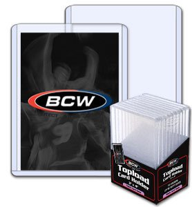 10 - BCW 3 x 4 x 5 mm - Thick Card Topload Holder 197 Point - Baseball & Other Sports Cards - Collecting (Grade Baseball Cards)