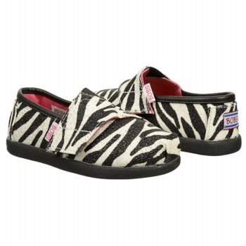 Skechers Girls Bobs World III Zebra Synthetic And Fabric Casual 5 M US - Bobs Shoe Zebra