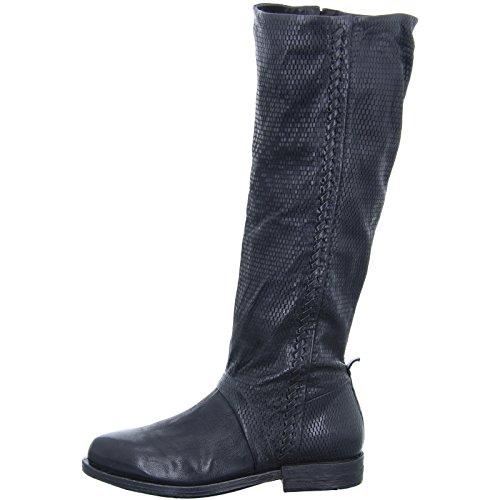 A.S.98 696317 Damen Stiefel Glatter Boden Leder schwarz