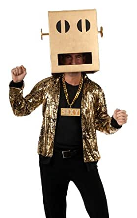 Rubie's Costume Lmfao Party Rock Anthem Shuffle Bot Headpiece, Brown, One Size Costume