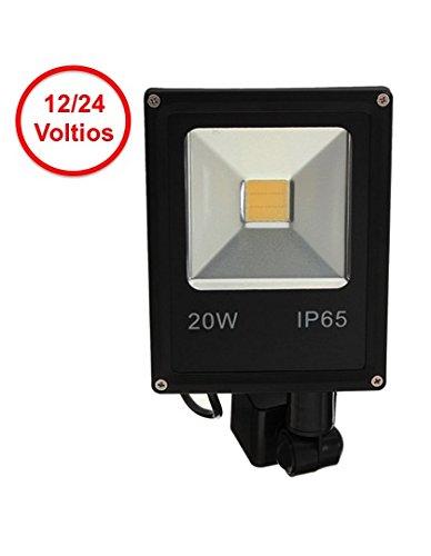 Foco LED 12V - 24V / 20W y Sensor Movimiento / Presencia (PIR) Nuevo modelo Ultraplano: Amazon.es: Bricolaje y herramientas