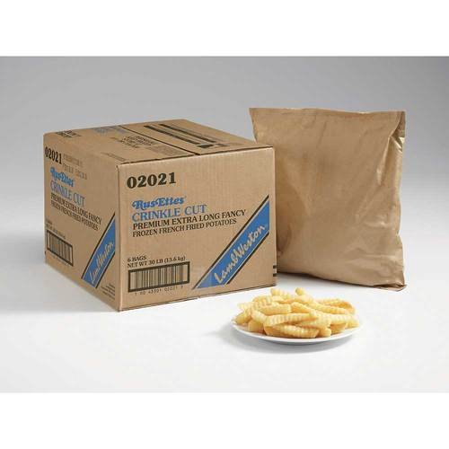 Lamb Weston Rus Ettes Idaho Shield Crinkle Cut Potato French Fry, 5 Pound -- 6 per case.