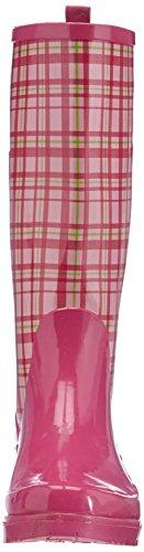 14 Gummistiefel rose Karo Stivaletti pink Playshoes Donna Trendiger Rosa Damen gqSEwT8z